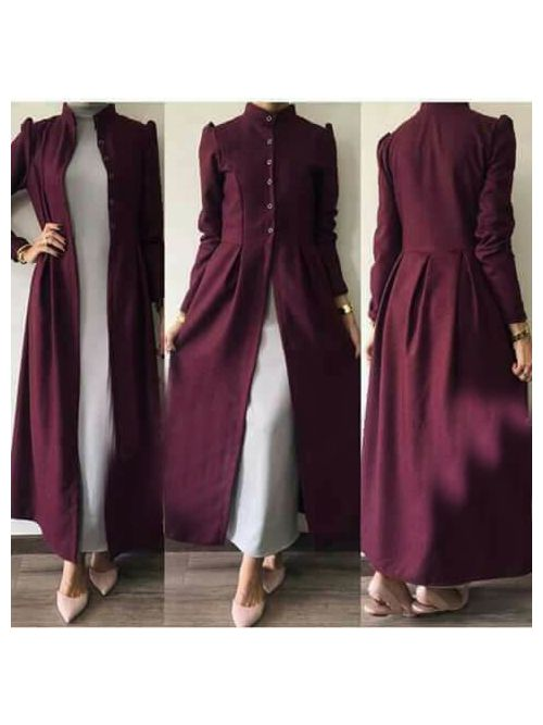Purple Colour Kurti With Jacket