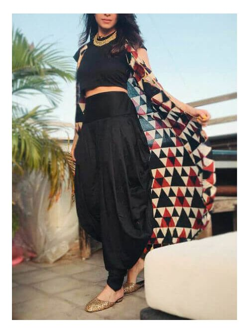 Crop Top Dhoti Jackets