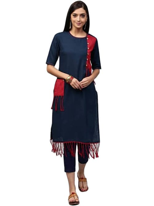 Half Different Colour Kurti