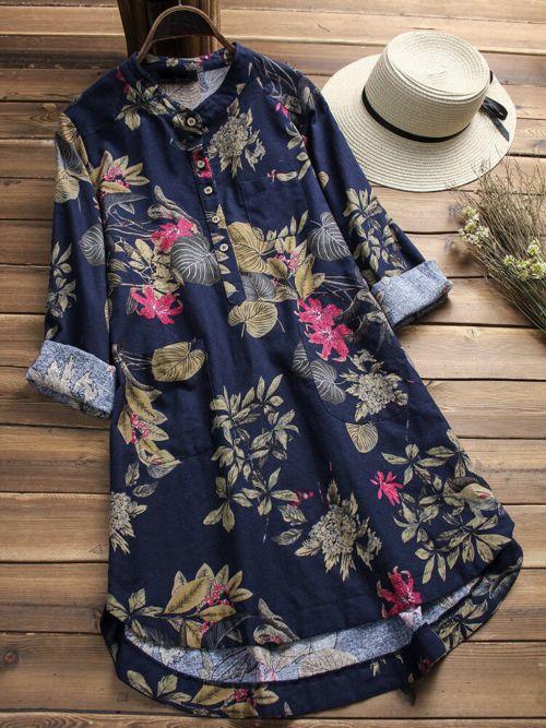 Floral Printed Long Shirts