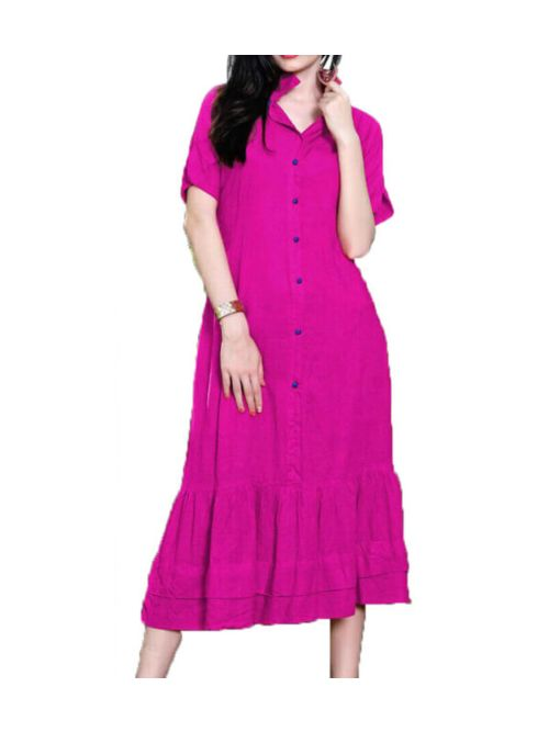 Pink Kurti Very Fancy Pattern