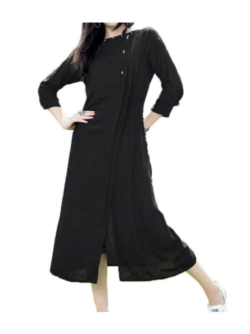 Black Colour Kurti And Very Fancy