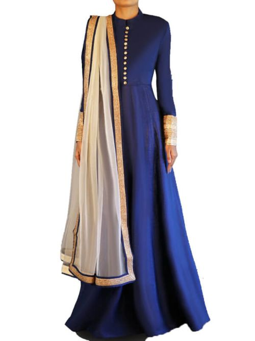 Fancy Long Gown And Dupatta