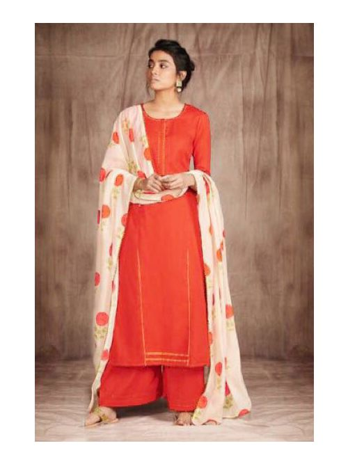 Printed Dupatta With Full suit