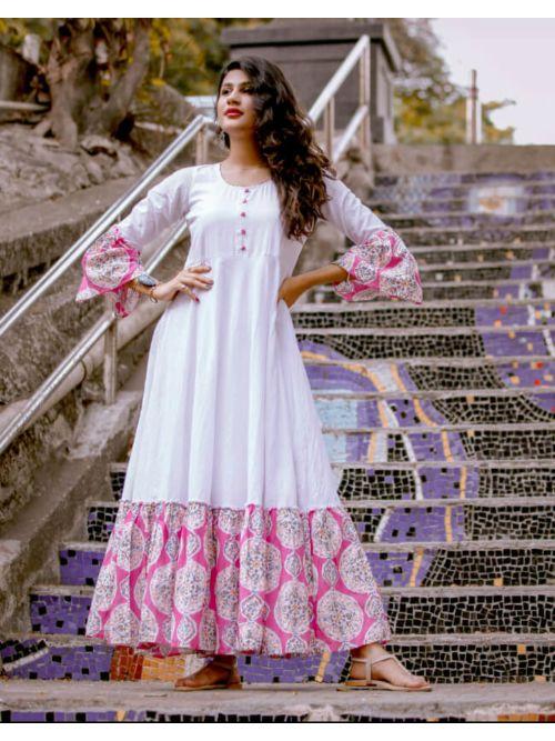 Bell Sleeve Anarkali Dress