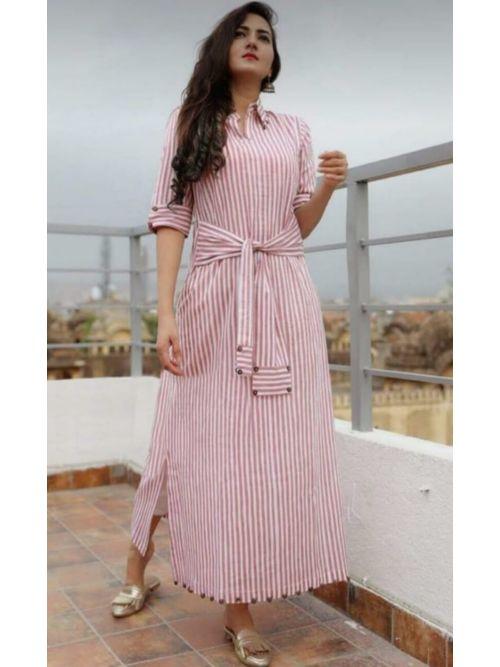 Printed Light Pink kurti