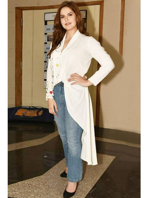 Fancy And Attractive white Kurti
