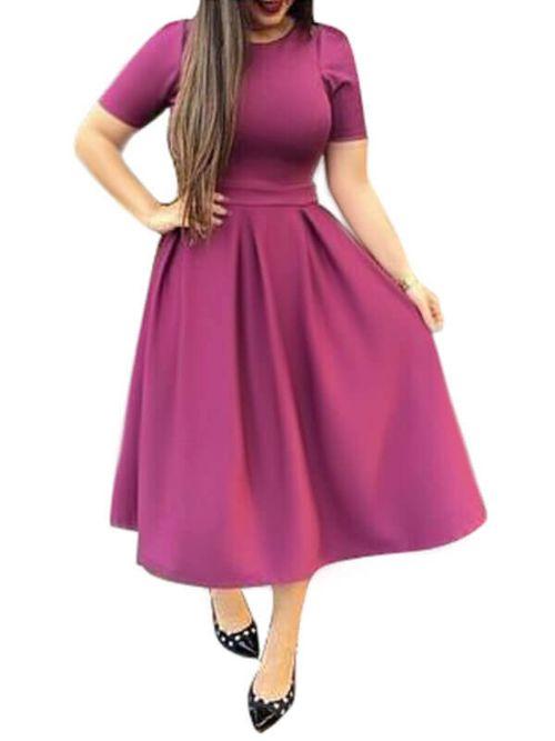 Fancy A-line Magenta Color Skirt