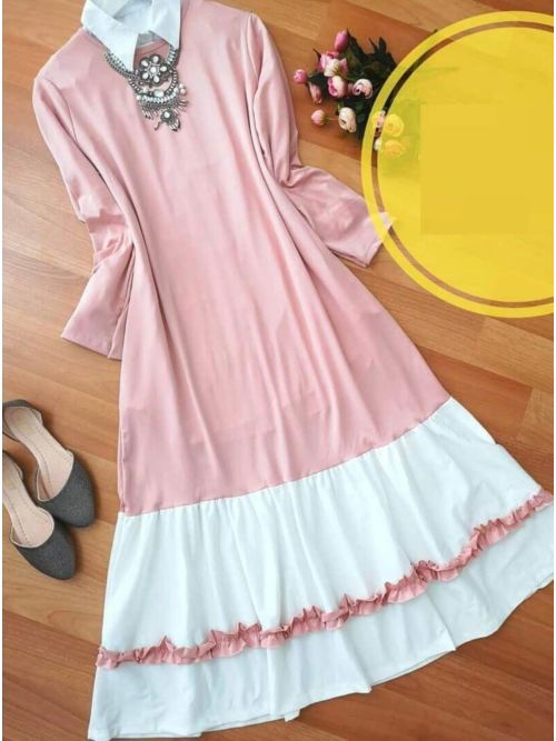 Light Pink Long Frilled Top