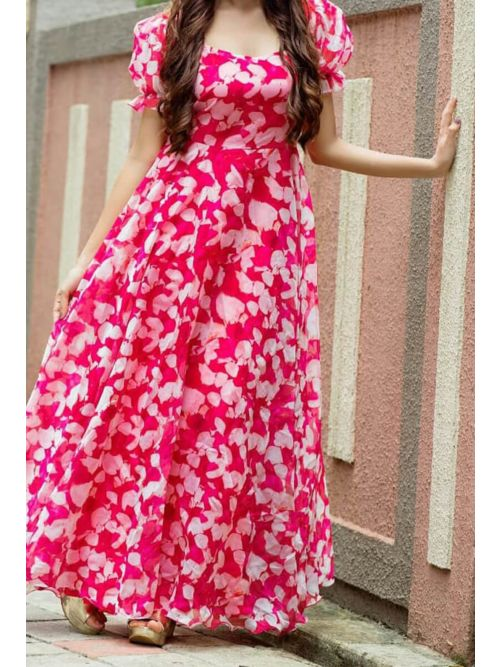 Printed Floral Long Kurti