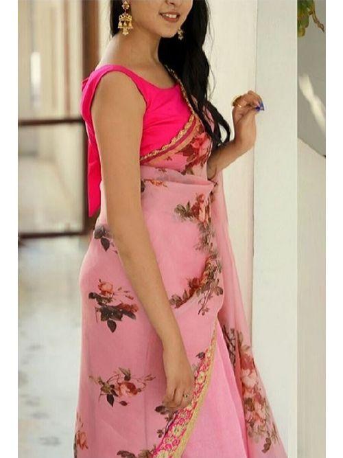Light Pink Fancy Saree