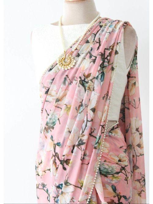 Light Pink Casual Saree