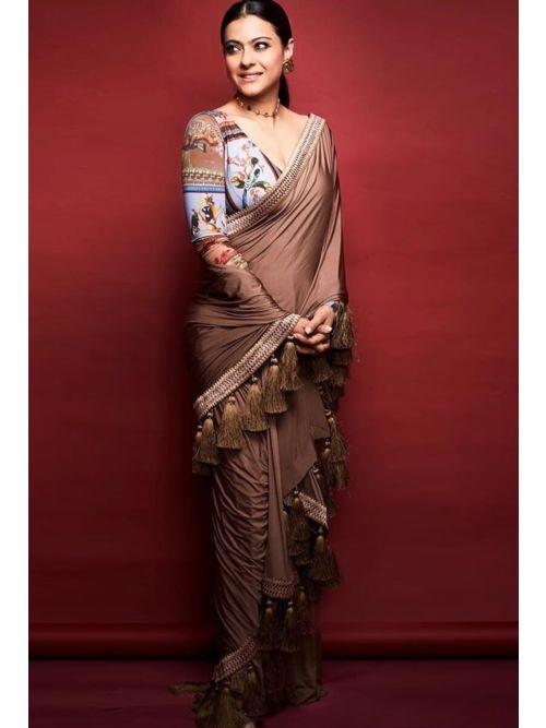 Brown Color Looking Forward Saree