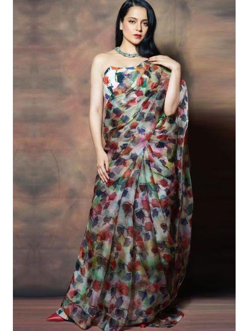 Vintage Rose Designer Saree